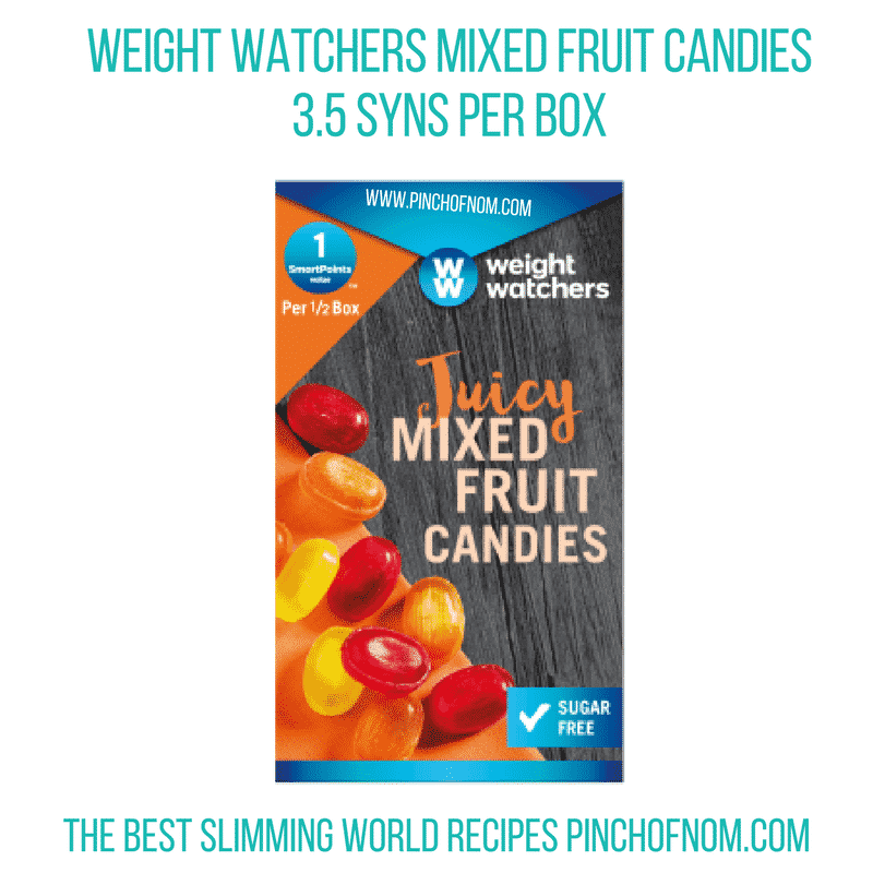 weight watchers mixed fruit candies - pinch of nom slimming world shopping essentials october 17
