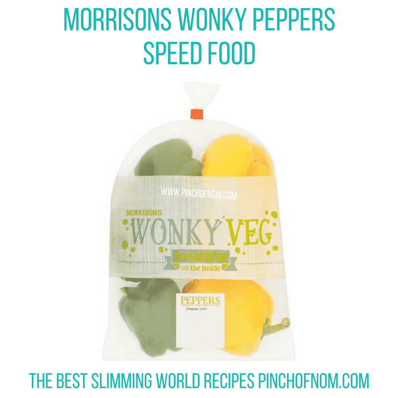 wonky peppers - pinch of nom slimming world shopping essentials october 17