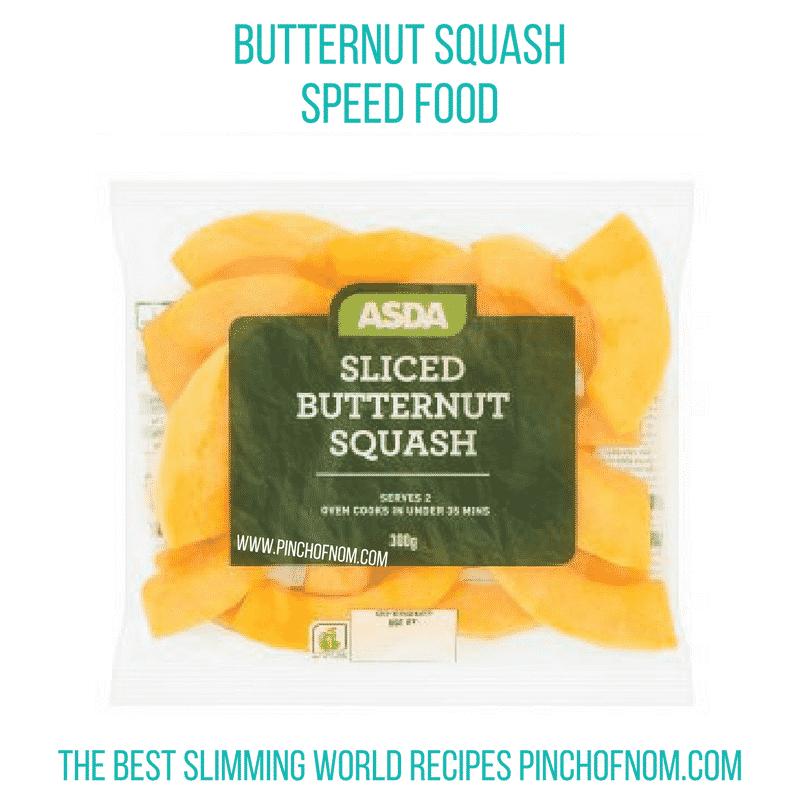 Asda Sliced Butternut Squash - Pinch of Nom Slimming World Shopping Essentials