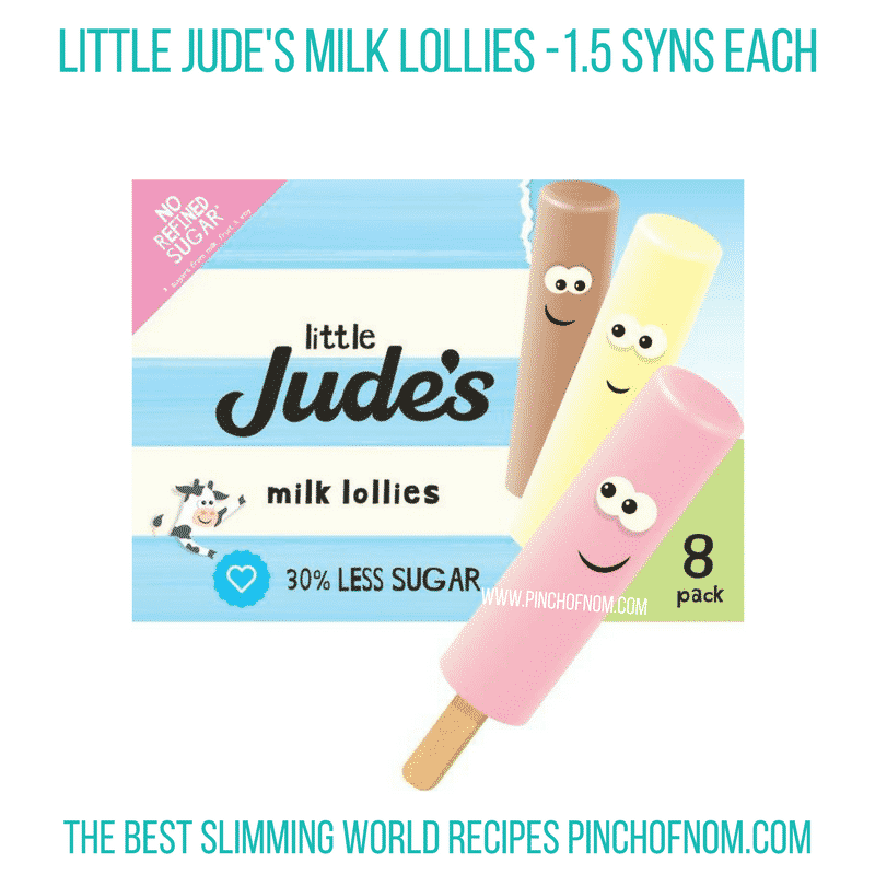 Little Jude's Milk Lollies - Pinch of Nom Slimming World Shopping Essentials