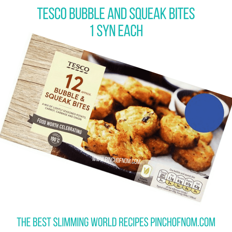 Tesco Bubble and Squeak - Pinch of Nom Slimming World Shopping Essentials