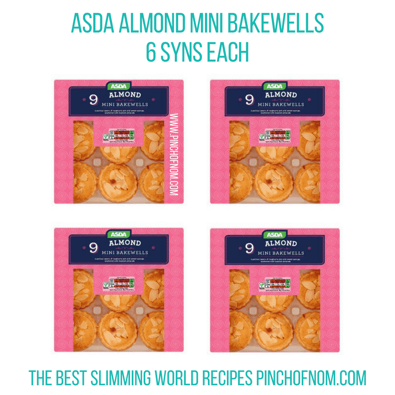 almond bakewell Tarts - Pinch of Nom Slimming World Shopping Essentials