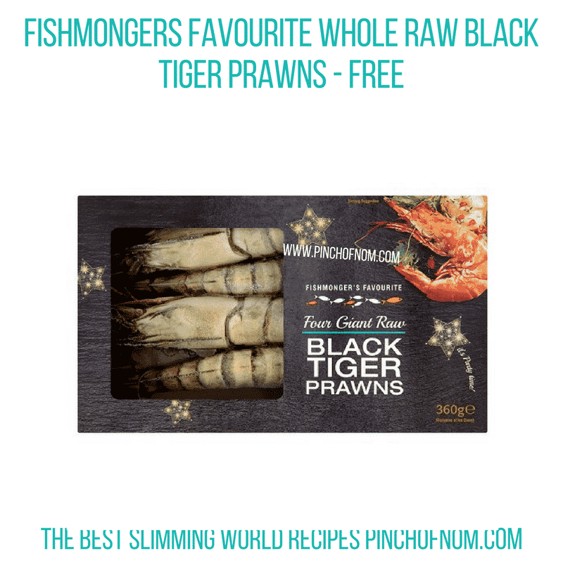 Fishmongers Favourite Whole Raw Black Tiger Prawns - Pinch of Nom Slimming World Shopping Essentials