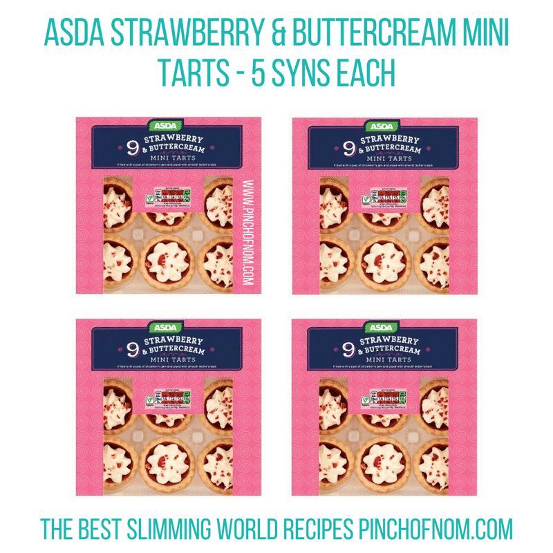 Asda Strawberry & Buttercream Mini Tarts - Pinch of Nom Slimming World Shopping Essentials