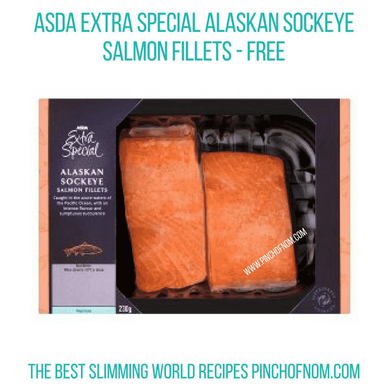 Asda Sockeye Salmon - Pinch of Nom Slimming World Shopping Essentials