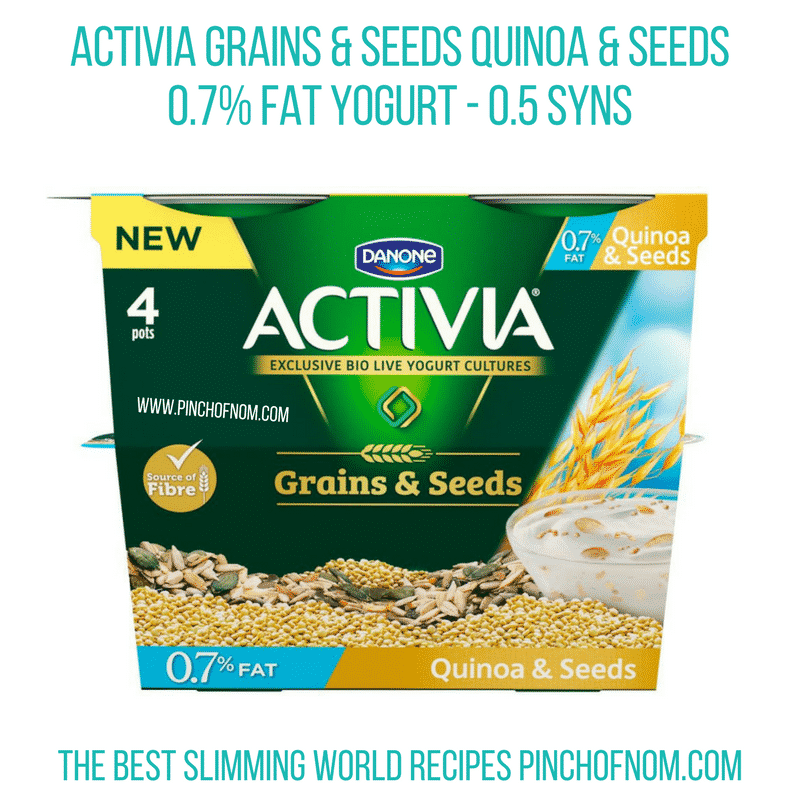 Activia Grains and Seeds Quinoa and Seeds - Pinch of Nom Slimming World Shopping Essentials
