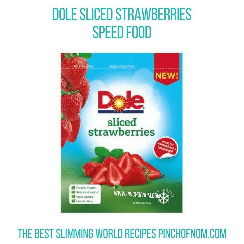 Dole Sliced Strawberries - Pinch of Nom Slimming World Shopping Essentials