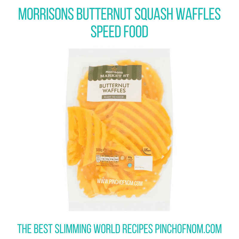 Morrisons Butternut Squash Waffles - Pinch of Nom Slimming World Shopping Essentials