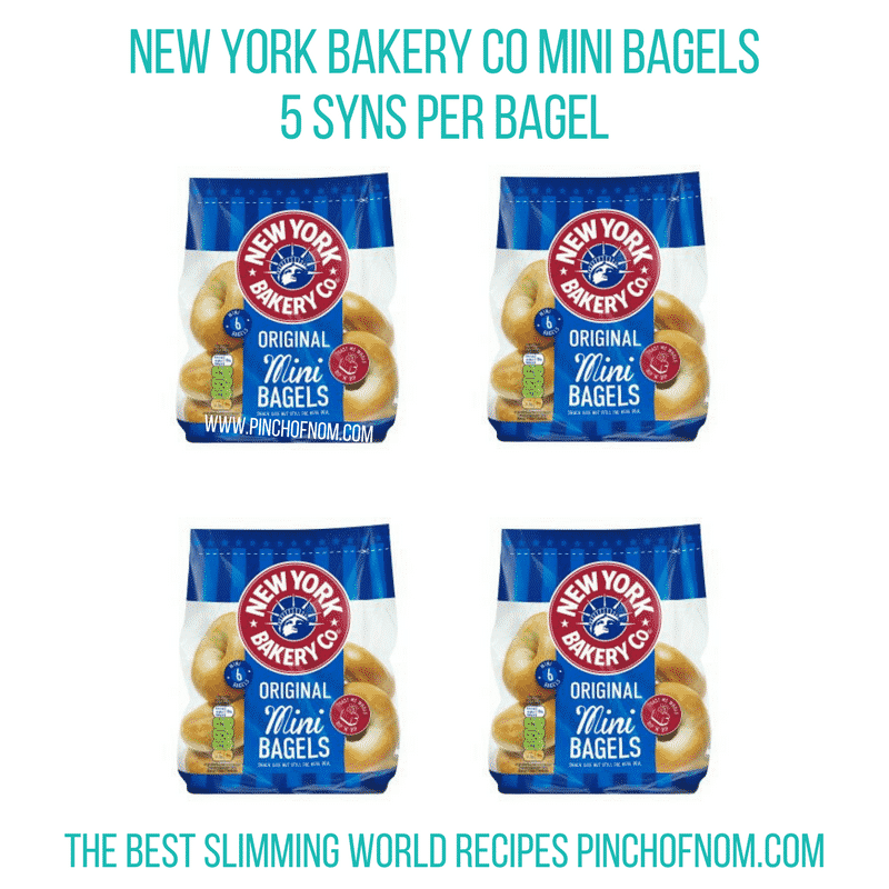 New York Bakery Co Mini Bagels - Pinch of Nom Slimming World Shopping Essentials