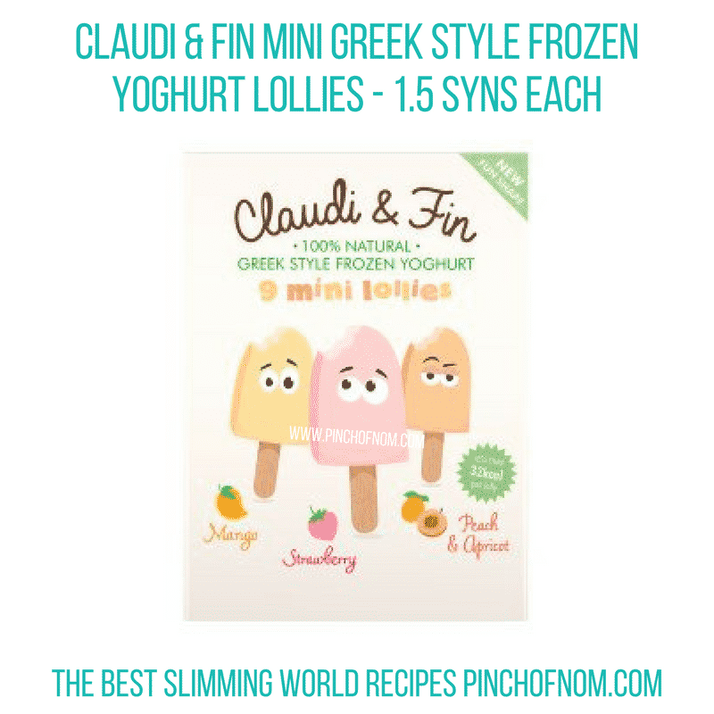 Claudi Fin lollies - Pinch of Nom Slimming World Shopping Essentials