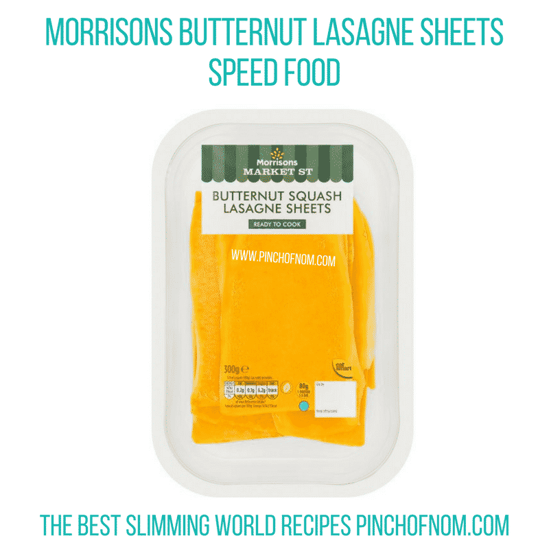 Morrisons Butternut Squash Lasagne Sheets - Pinch of Nom Slimming World Shopping Essentials