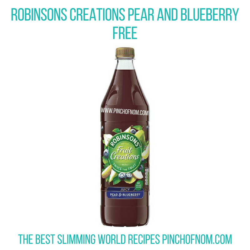 Robinsons Creations Pear And Blueberry - Pinch of Nom Slimming World Shopping Essentials