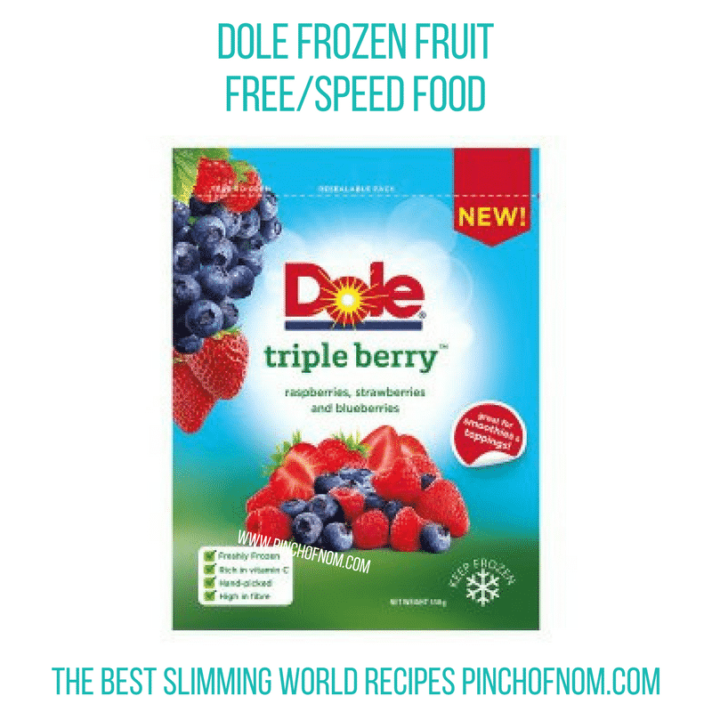 Dole Triple Berry - Pinch of Nom Slimming World Shopping Essentials
