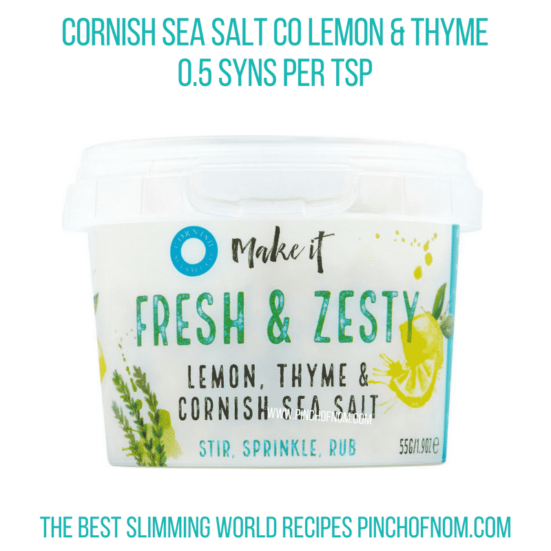 Cornish Sea Salt Lemon Thyme - Pinch of Nom Slimming World Shopping Essentials