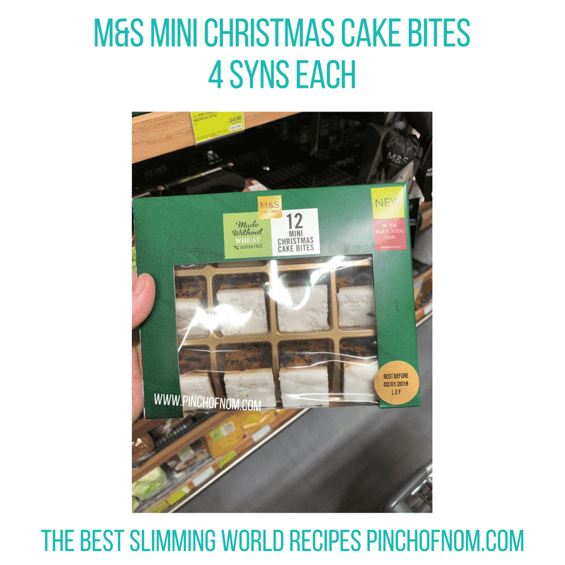 Mini Christmas cake bites - Pinch of Nom Slimming World Shopping Essentials