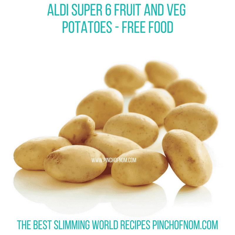 Aldi Super 6 Potatoes - Pinch of Nom Slimming World Shopping Essentials