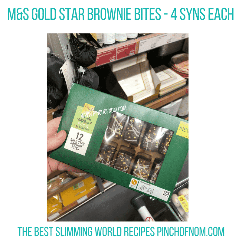 Gold Star Brownie Bites - Pinch of Nom Slimming World Shopping Essentials