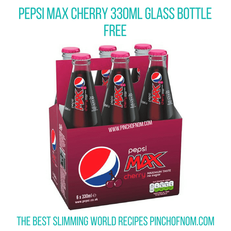 Pepsi Max Cherry - Pinch of Nom Slimming World Shopping Essentials