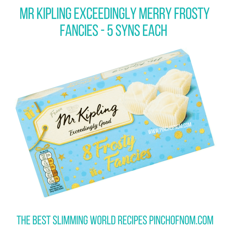 Mr Kipling Frosty Fancies - Pinch of Nom Slimming World Shopping Essentials