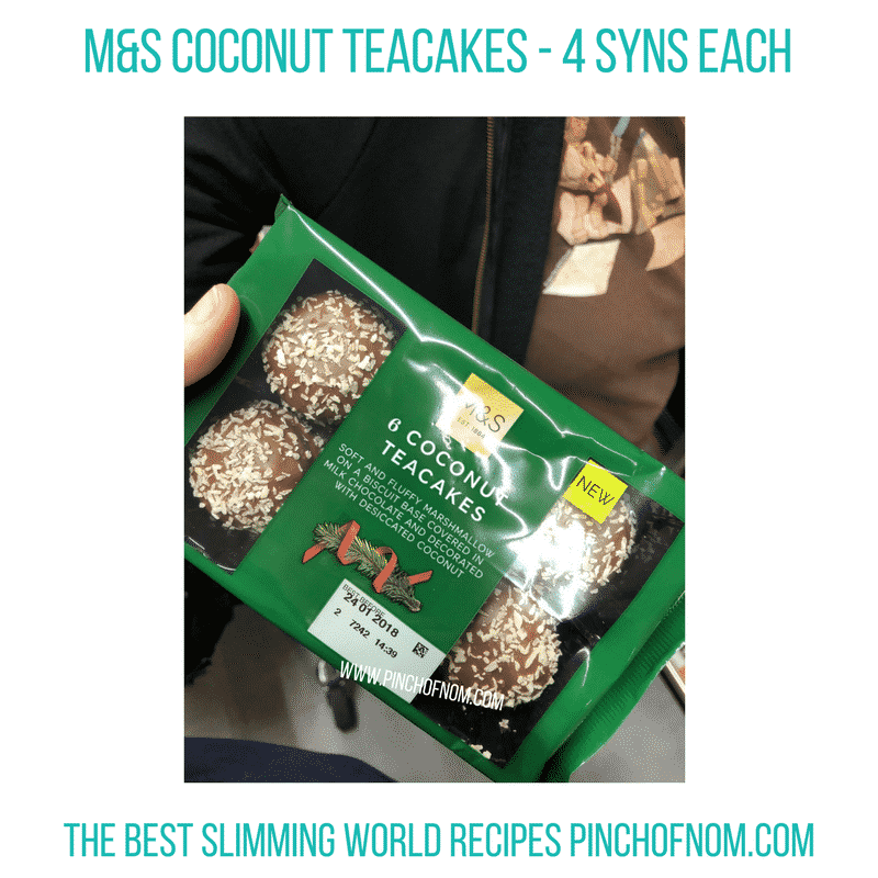M&S Coconut Teacakes - Pinch of Nom Slimming World Shopping Essentials