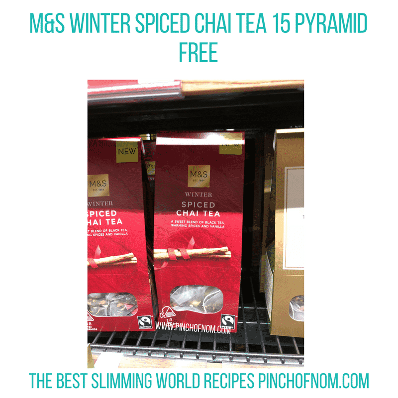 Winter Spiced Chai Tea 15 Pyramid - Pinch of Nom Slimming World Shopping Essentials