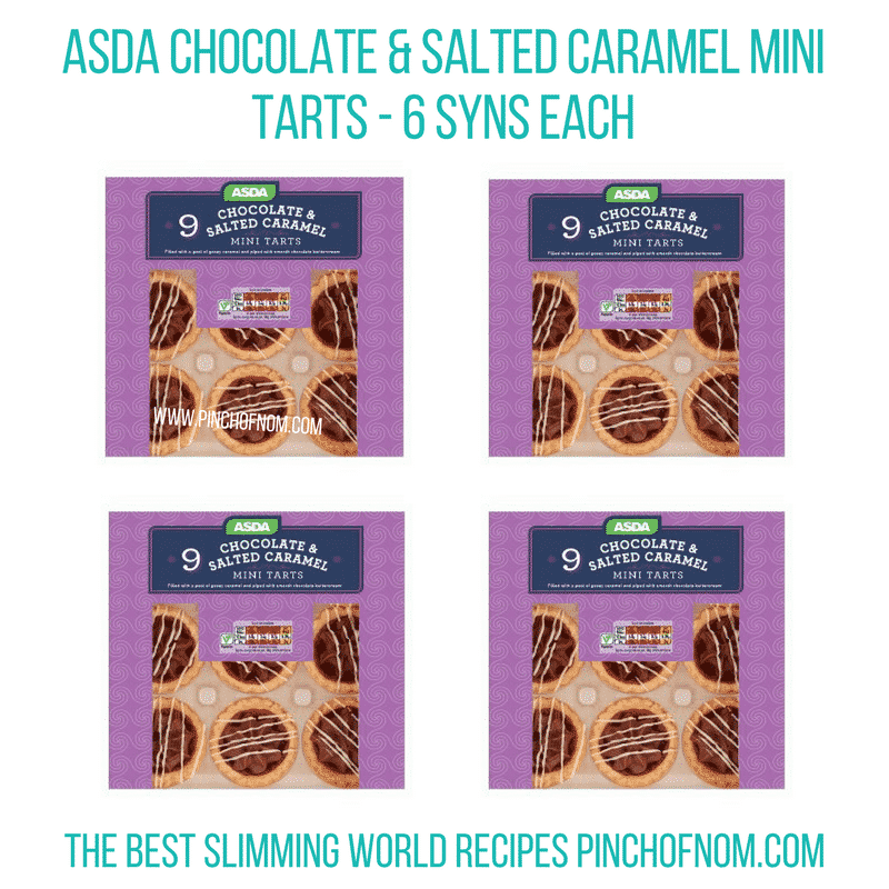 Asda Chocolate & Salted Caramel Mini Tarts - Pinch of Nom Slimming World Shopping Essentials