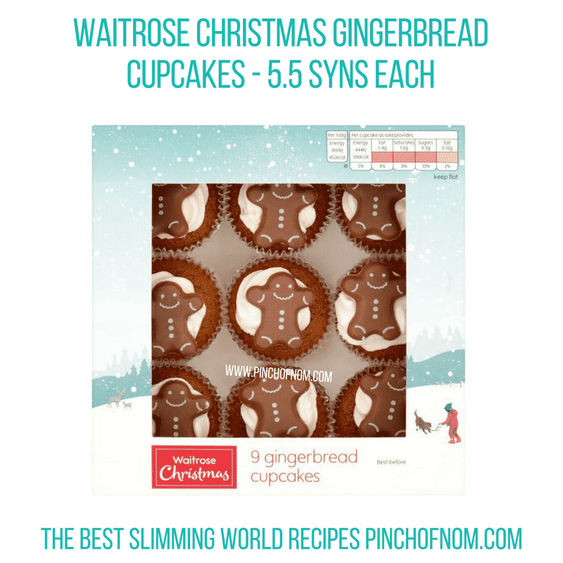 Waitrose Christmas Gingerbread Cup Cakes - Pinch of Nom Slimming World Shopping Essentials