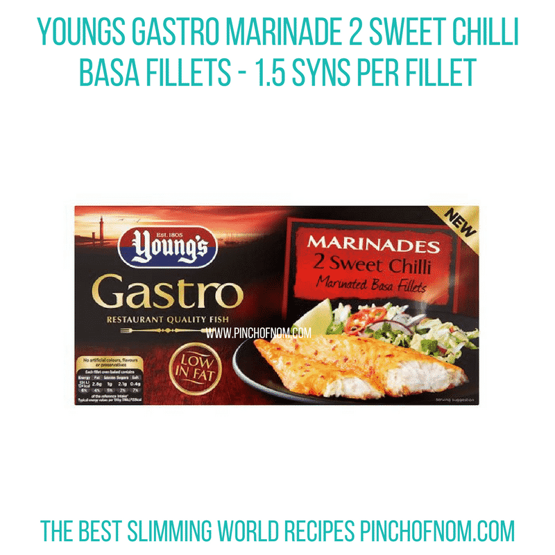 Young's Gastro Marinade Sweet Chilli Basa Fillets - Pinch of Nom Slimming World Shopping Essentials