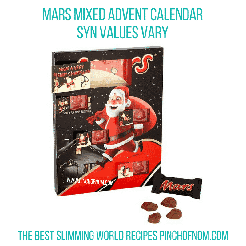 Mars Mixed Advent Calendar - Pinch of Nom Slimming World Shopping Essentials