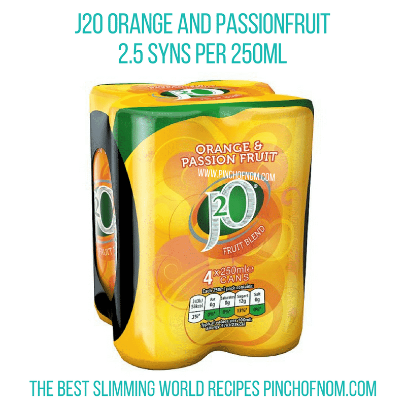 New formula J2O - less Sugar - Pinch of Nom Slimming World Shopping Essentials