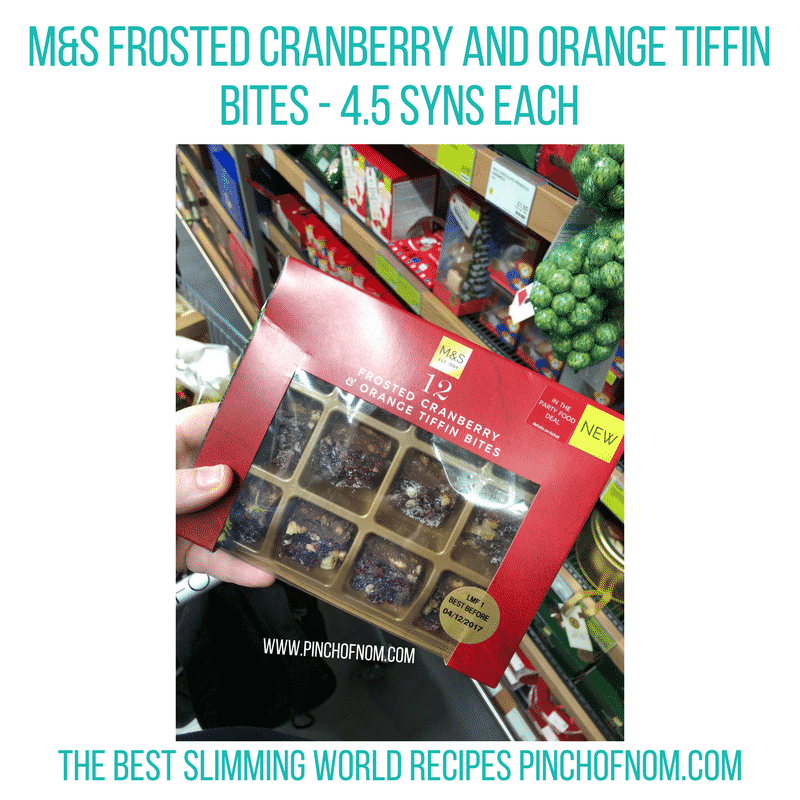 Frosted Cranberry and Orange Tiffin Bites - Pinch of Nom Slimming World Shopping Essentials