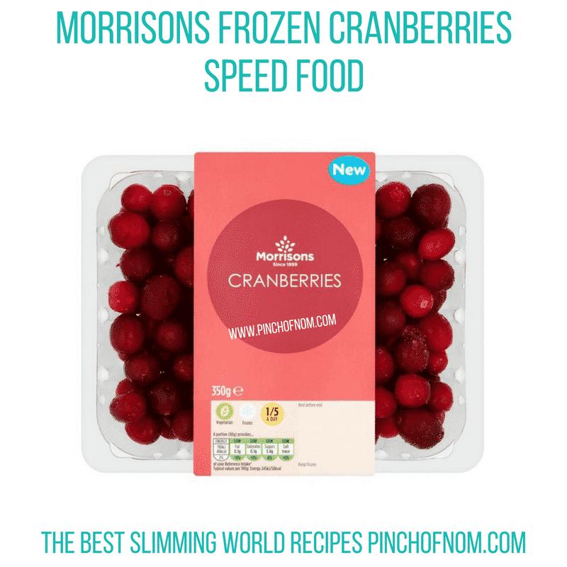 Morrisons Frozen Cranberries - Pinch of Nom Slimming World Shopping Essentials