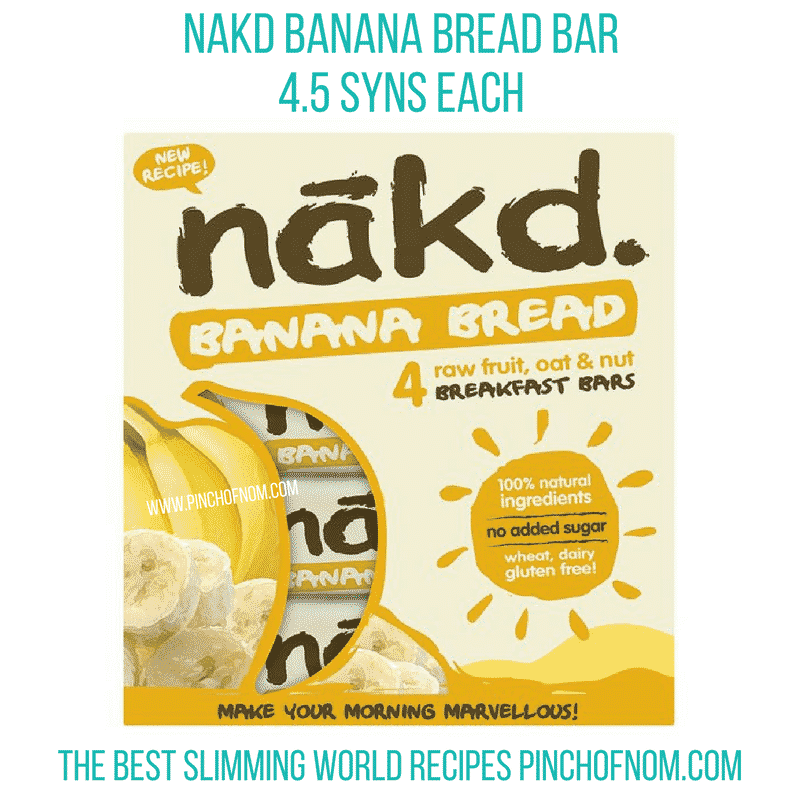 Nakd Banana Bread Bar - Pinch of Nom Slimming World Shopping Essentials