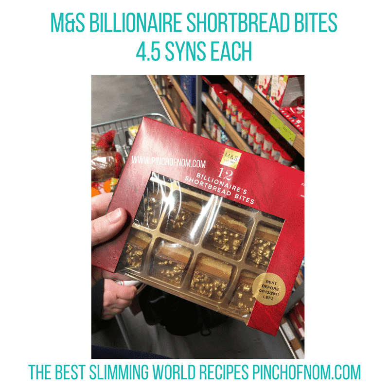 Billionaire Shortbread Bites - Pinch of Nom Slimming World Shopping Essentials