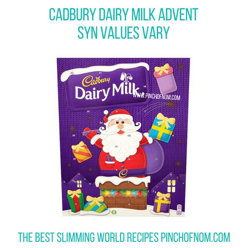Cadbury Dairy Milk Advent Calendar - Pinch of Nom Slimming World Shopping Essentials