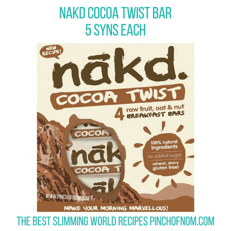 Nakd Cocoa Twist Bar - Pinch of Nom Slimming World Shopping Essentials
