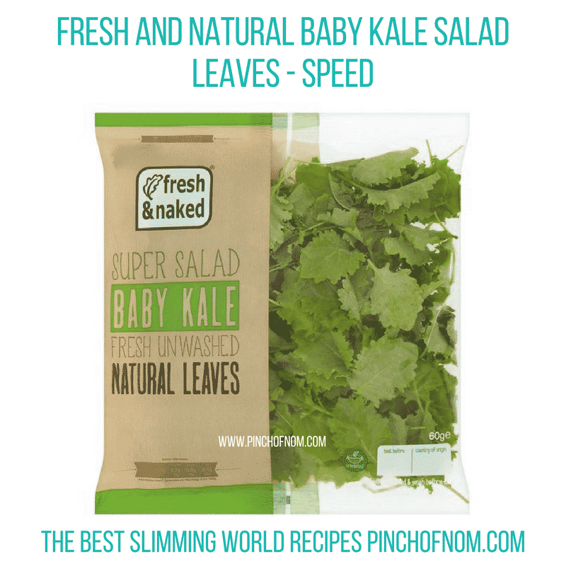 Fresh and Natural Baby Kale - Pinch of Nom Slimming World Shopping Essentials