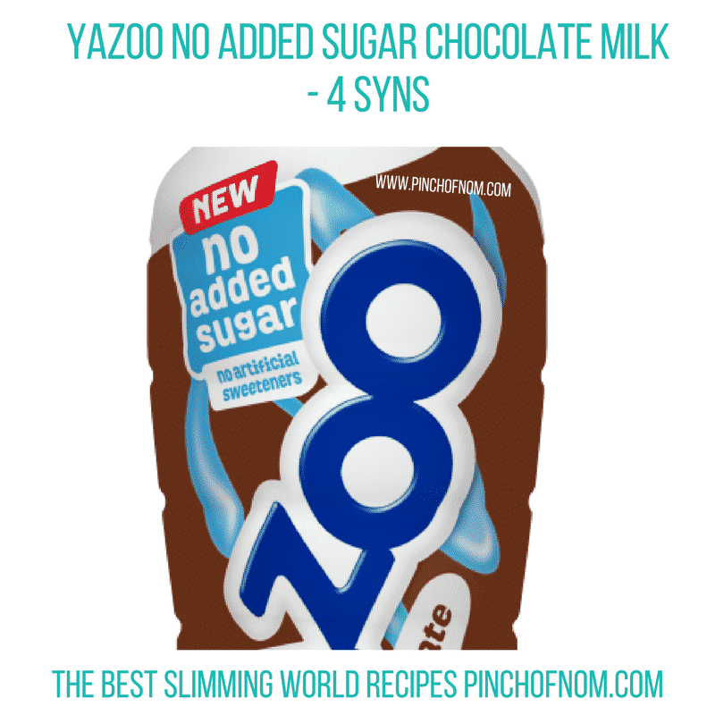 Yazoo No Added Sugar Chocolate Milk - Pinch of Nom Slimming World Shopping Essentials