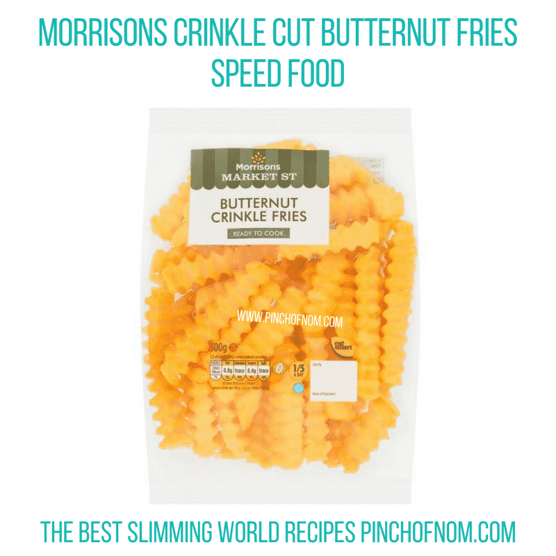 Morrisons Crinkle Cut Butternut Fries - Pinch of Nom Slimming World Shopping Essentials