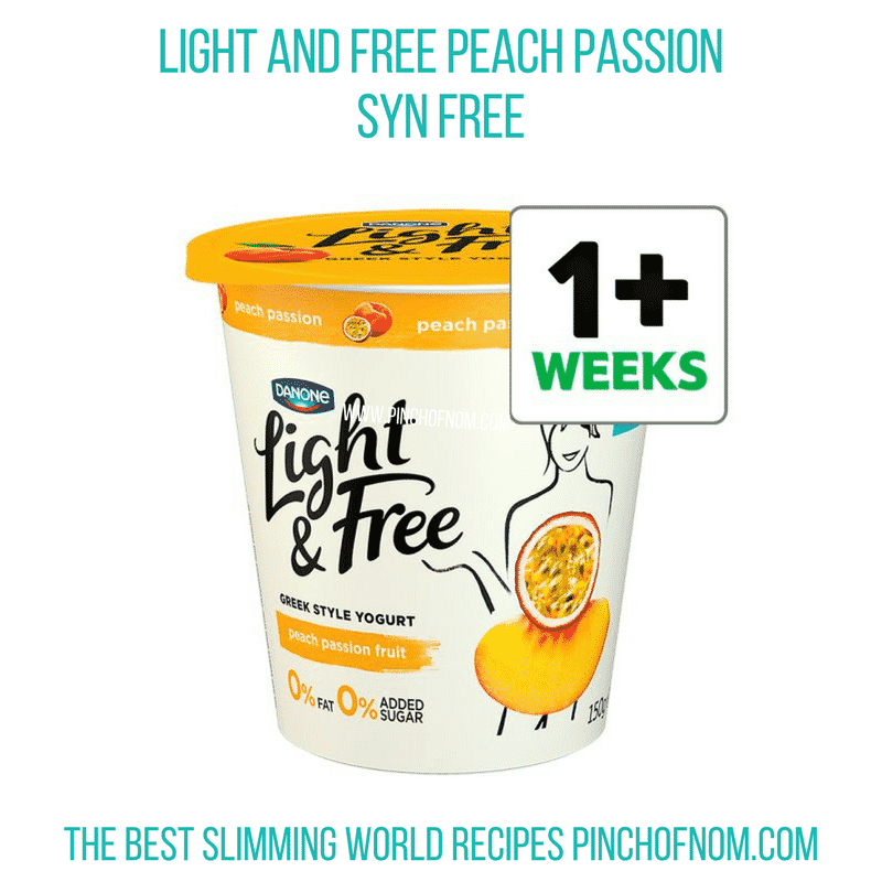 Light and Free Peach Passion - Pinch of Nom Slimming World Shopping Essentials