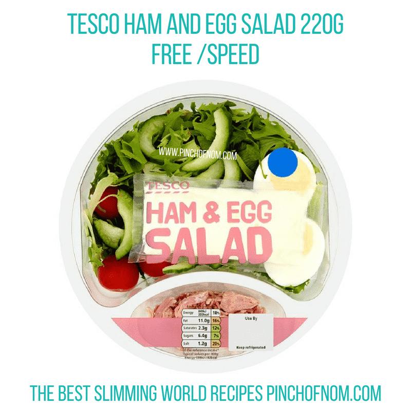 Tesco Ham & Egg Salad - Pinch of Nom Slimming World Shopping Essentials