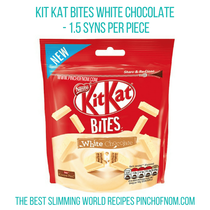 Kit Kat Bites White Chocolate - Pinch of Nom Slimming World Shopping Essentials