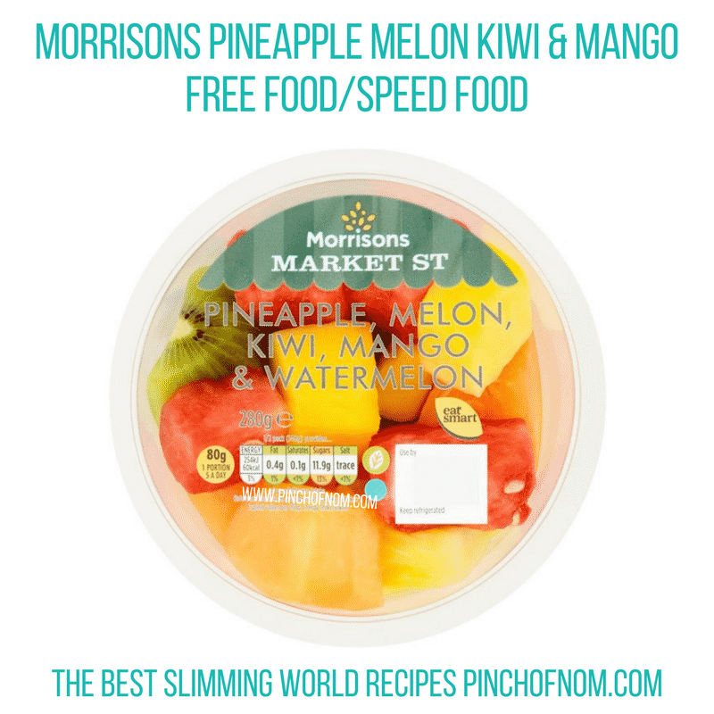 Morrisons Pineapple Melon Kiwi & Mango - Pinch of Nom Slimming World Shopping Essentials