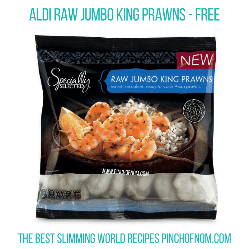 Aldi Raw Jumbo King Prawns - Pinch of Nom Slimming World Shopping Essentials