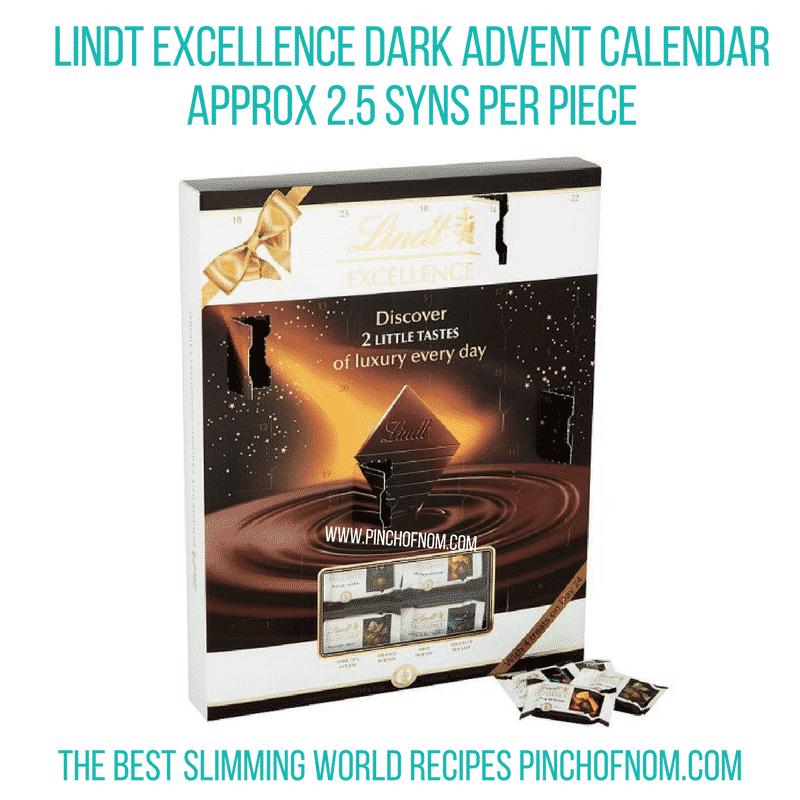 Lindt Excellence Dark Advent Calendar - Pinch of Nom Slimming World Shopping Essentials