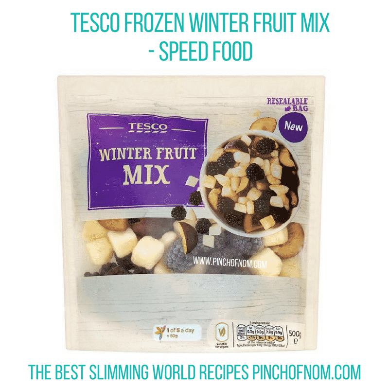 Tesco Frozen Winter Fruit Mix - Pinch of Nom Slimming World Shopping Essentials