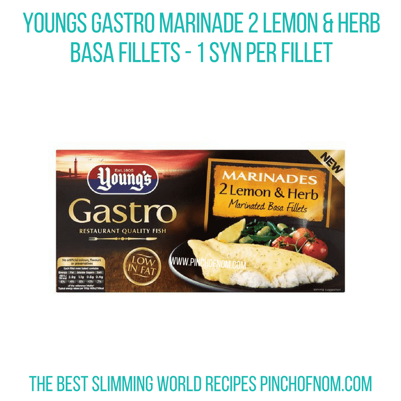 Young's Gastro Marinade Lemon And Herb Basa Fillets - Pinch of Nom Slimming World Shopping Essentials
