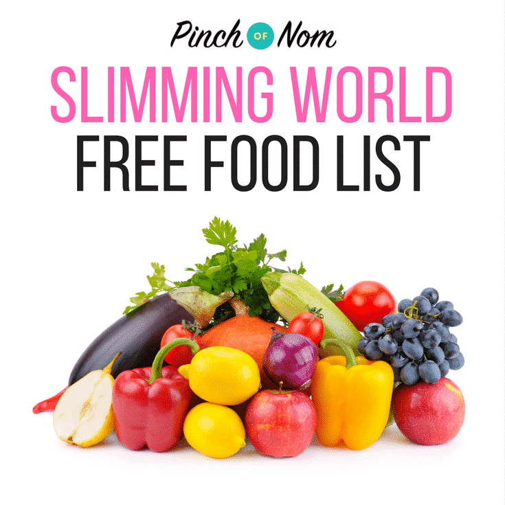 Slimming World Free Food llist