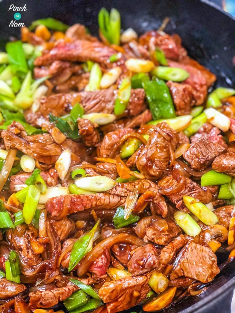 Stir-fried Beef with Ginger and Spring Onion | Slimming & Weight Watchers Friendly
