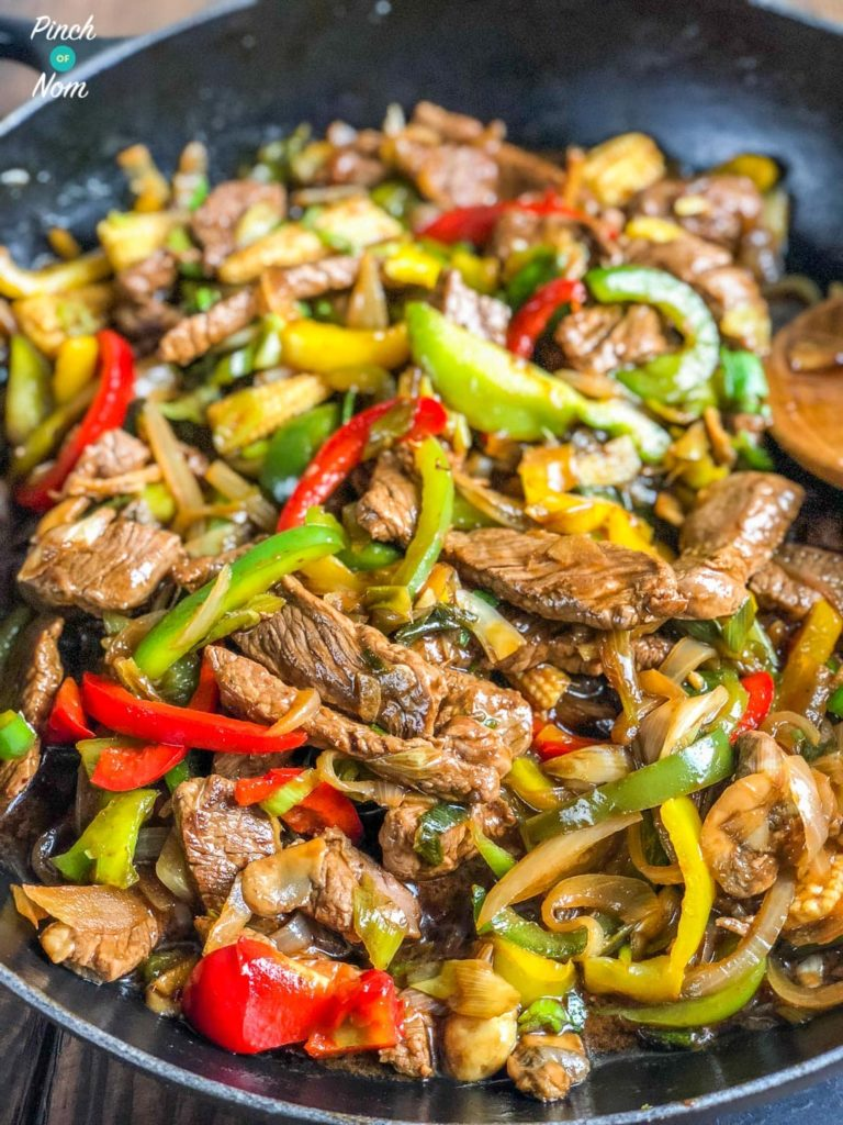Stir-fried Beef with Ginger and Spring Onion - Slimming World-15